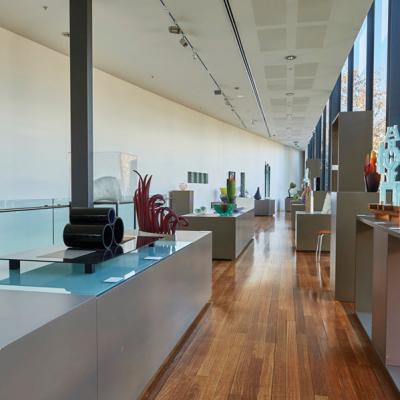 Wagga Wagga Art Gallery. Pieces in the National Art Glass collection. Mandatory credit Destination NSW